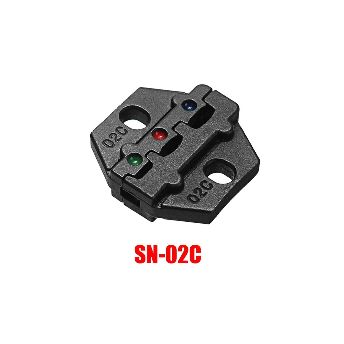 Liga de aço morre conjuntos para SN-02C friso alicate série mão friso ferramenta 0.25-2.5mm2 14-24awg jaws