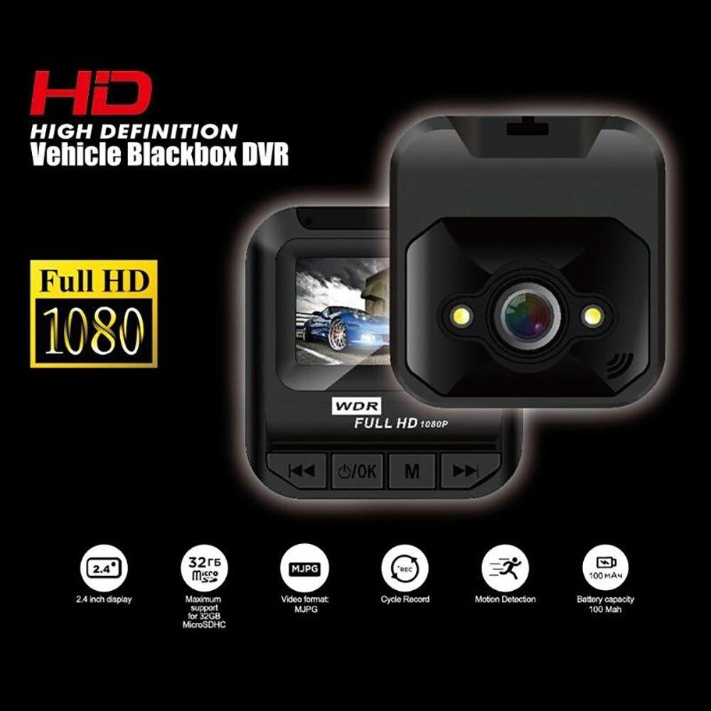 Q1 Mini 1,6 pulgadas 1080P Full HD coche DVR cámara de salpicadero vídeo para automóvil grabadora Cámara registradora LCD pantalla Grabación en bucle cámara de salpicadero 5