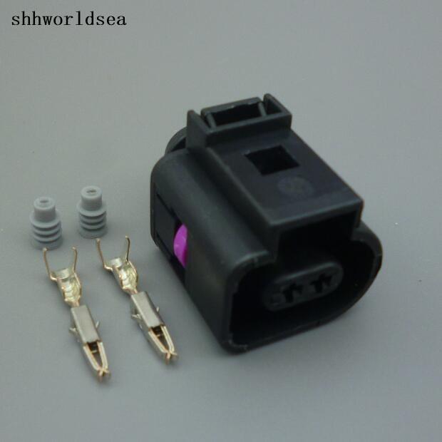 Shhworldsea 2/5/30/100 sätze 2pin bleed ventil stecker, erdgas anschluss 13602619/1J0 973 702 1J0973702 für vw