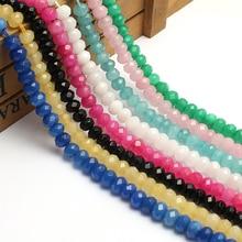 Perles rondelles 6mm perles en pierre de cristal naturel perles en vrac pour la fabrication de bijoux 15 pouces perles en cristal tchèque à facettes bricolage bijoux