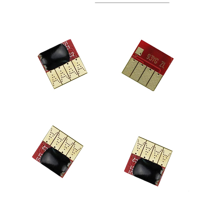4 pcs chip do cartucho permanente para hp970 mostrar o nível de tinta chip para hp officejet pro x451dn/x551dw/x476dn/x576dw impressora