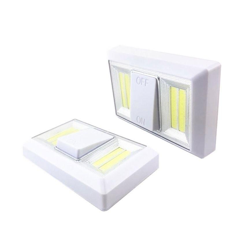 Mini interruptor de luz LED de pared COB Ultra brillante magnético, luz nocturna, funciona con batería inalámbrica para garaje, dormitorio, armario, recién llegado