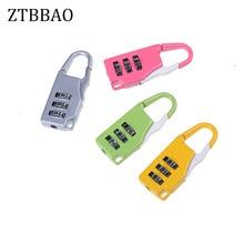1pcs Mini Padlock Travel Suitcase Luggage Security Password Lock 3 Digit Combination Color Random