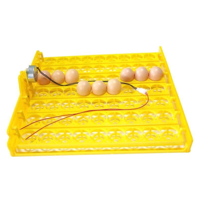 63 huevos incubadora de huevos automática bandeja incubadora de huevos 110 v/220 v motores nuevo equipo de incubación equipo de aves de pollo