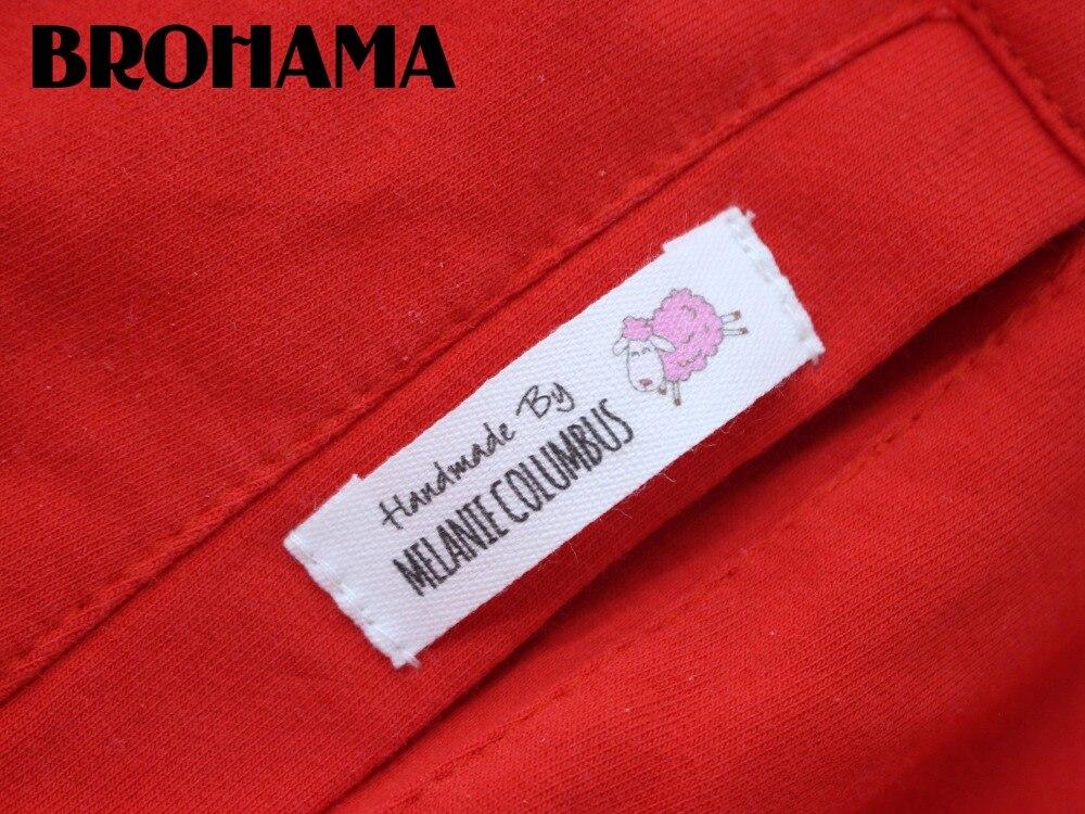 Etiquetas/Logotipo de costura personalizado, etiquetas de tela, Etiquetas de ropa, oveja Rosa hecha a mano (MD040)