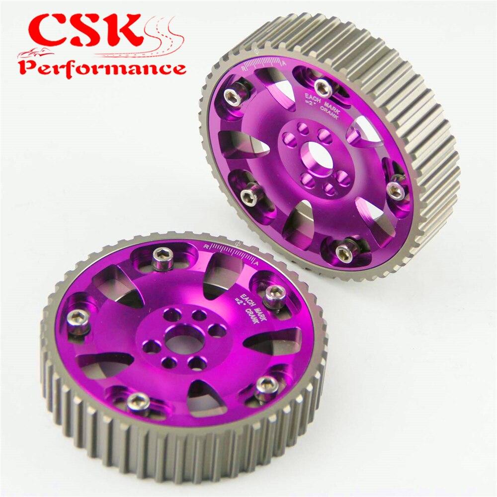 2 peças de alta performance cam engrenagens polia kit se encaixa para 89-02 nissan skyline rb20 rb25 rb26 r32 r33 r34 preto/azul/vermelho/roxo