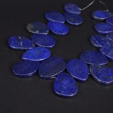 Approx19PCS/حبلا أعلى حفر اللازورد الطبيعي بلاطة شريحة الخرز فضفاضة, الخام الأزرق الأحجار الكريمة حجر الكتلة المعلقات صنع المجوهرات