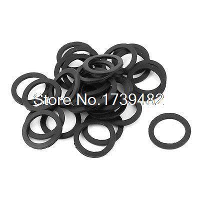 30 STÜCKE 20x15mm Flache 0 Ringe Dichtung Gummischeiben Schwarz für PG9 Kabelverschraubung