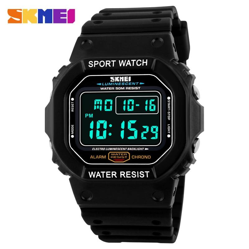 Neue Mode Skmei Marke LED Uhr Männer Sport Uhren Digital Military Uhr 50 mt Wasserdichte Outdoor Kleid Armbanduhren