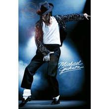 Affiche personnalisée Michael Jackson   Affiche en toile, tissu de décoration pour la maison, affiche murale en tissu imprimé tissu en soie