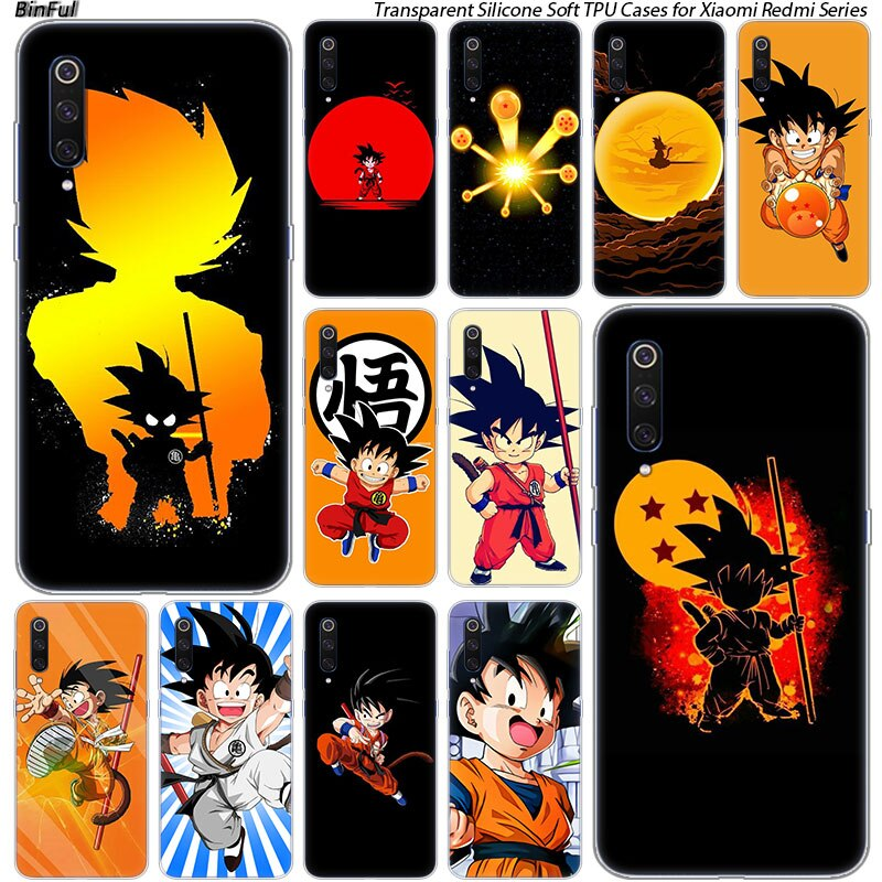 Hijo de goku de dragon ball Z de silicona para Xiaomi Pocophone F1 9T 9 9SE 8 A2 Lite A1 A2 Mix3 Redmi K20 7A Nota 4 4X 5 5 5 6 6 7 Pro S2