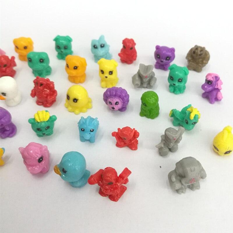 20 piunids/lote 1cm los dibujos animados son lindos y pegajosos Mini animales blandos DIY decoración de muebles Micro decoración de paisaje
