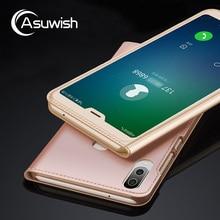 Flip Cover Leather Case For Huawei P20 Lite Nova 3E P 20 Lite P20lite Nova3E 5.84 Inch Mobile Phone Case Transparent Window