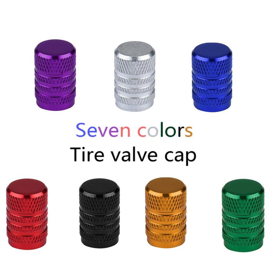 2018 venta nuevo de 7 colores hilo neumático tapones para vástago de válvula 4X coche de la bici del camión de llantas de neumáticos madre tapas de válvula de aire cubierta