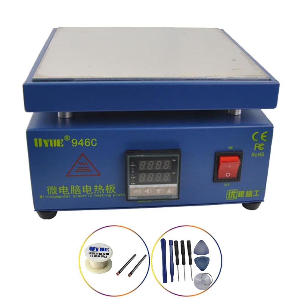 UYUE-946C فاصل شاشة الهاتف الخلوي ، سخان كهروميكانيكي مع شاشة رقمية مزدوجة ، درجة حرارة قابلة للتعديل