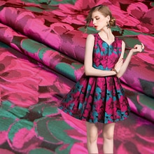145cm width Imported flower style Metallic Jacquard Brocade Fabric,3D jacquard yarn dyed fabric for