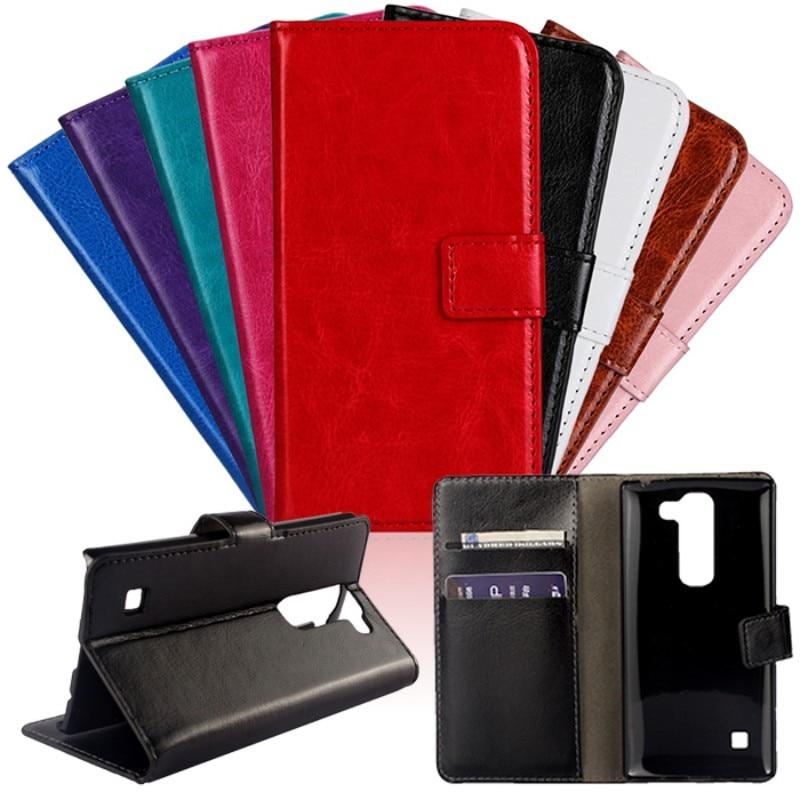 Para LG Spirit G5 G4 G3 G2 Leon funda para LG F60 fundas Flip cuero cartera accesorios para teléfono móvil Coque libro soporte abierto