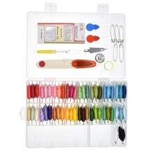 Outils de tricot à aiguille   Ligne de croix, boîte de 50 couleurs français DMC enroulement de fil à broder, bricolage laine fait main, fil à coudre, ciseaux