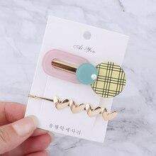 2/3pcs Set Gold Hair Clip Clamp Pearl Rhinestone Star Heart Bobby Pins Hairpin Diamond Hair Accessories for Women Girls Barrette