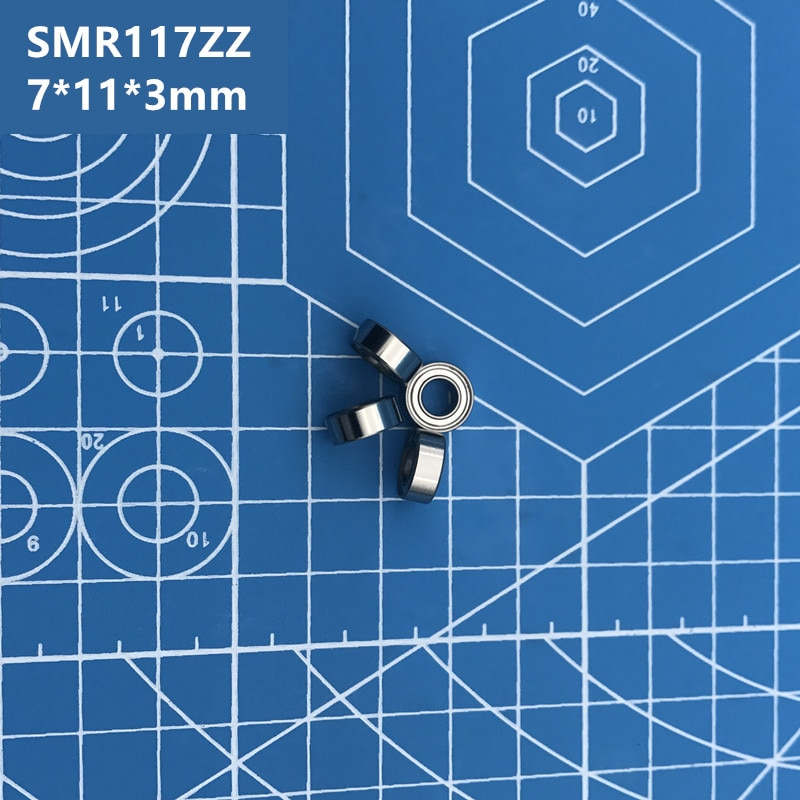 Free Shipping high quality SMR117ZZ (10PCS) 7*11*3 mm Stainless Steel Miniature SMR117 ZZ Ball Bearings SMR117-ZZ