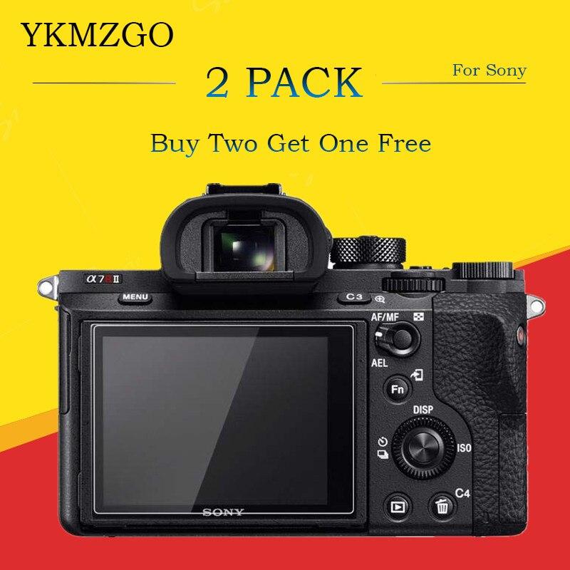 Pacote 2 9 H Temperado Vidro Protetor de Tela LCD para Sony A6400/Canon EOS R M50 M100/Fujifilm XT100 GFX 50 S X-T30 XT30 X-H1 XH1