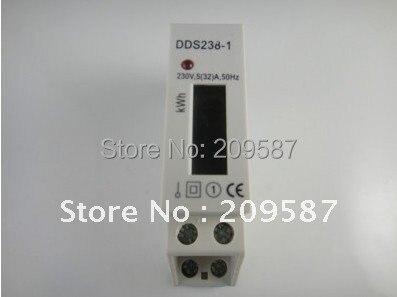 LCD 5(32A) 230VAC DIN-Rail Kilowatt Hour kwh Meter
