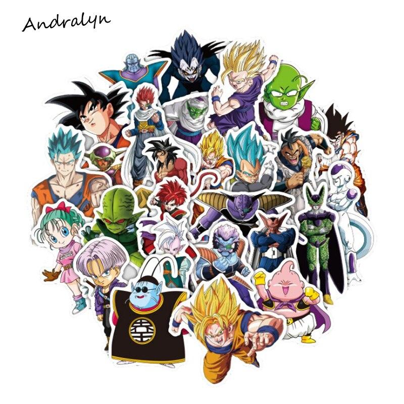 36 шт./лот, Супер Saiyan Goku, аниме, Жемчуг дракона, наклейки для автомобиля, ноутбука, скейтборда, планшета, велосипеда, телефона, наклейки из ПВХ