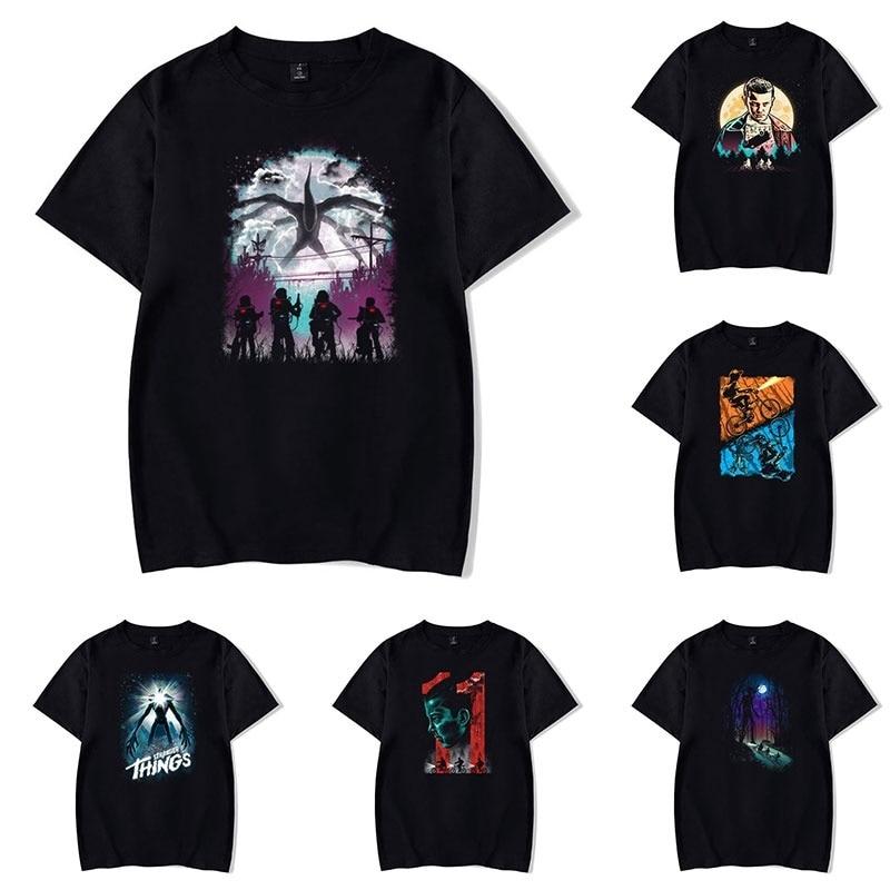 Fremden Dinge T-shirts Kühlen Fremden Dinge Muster Drucken Kurzarm Jugendliche Sommer Beiläufige Baumwolle Tops Tees Harajuku Shirts