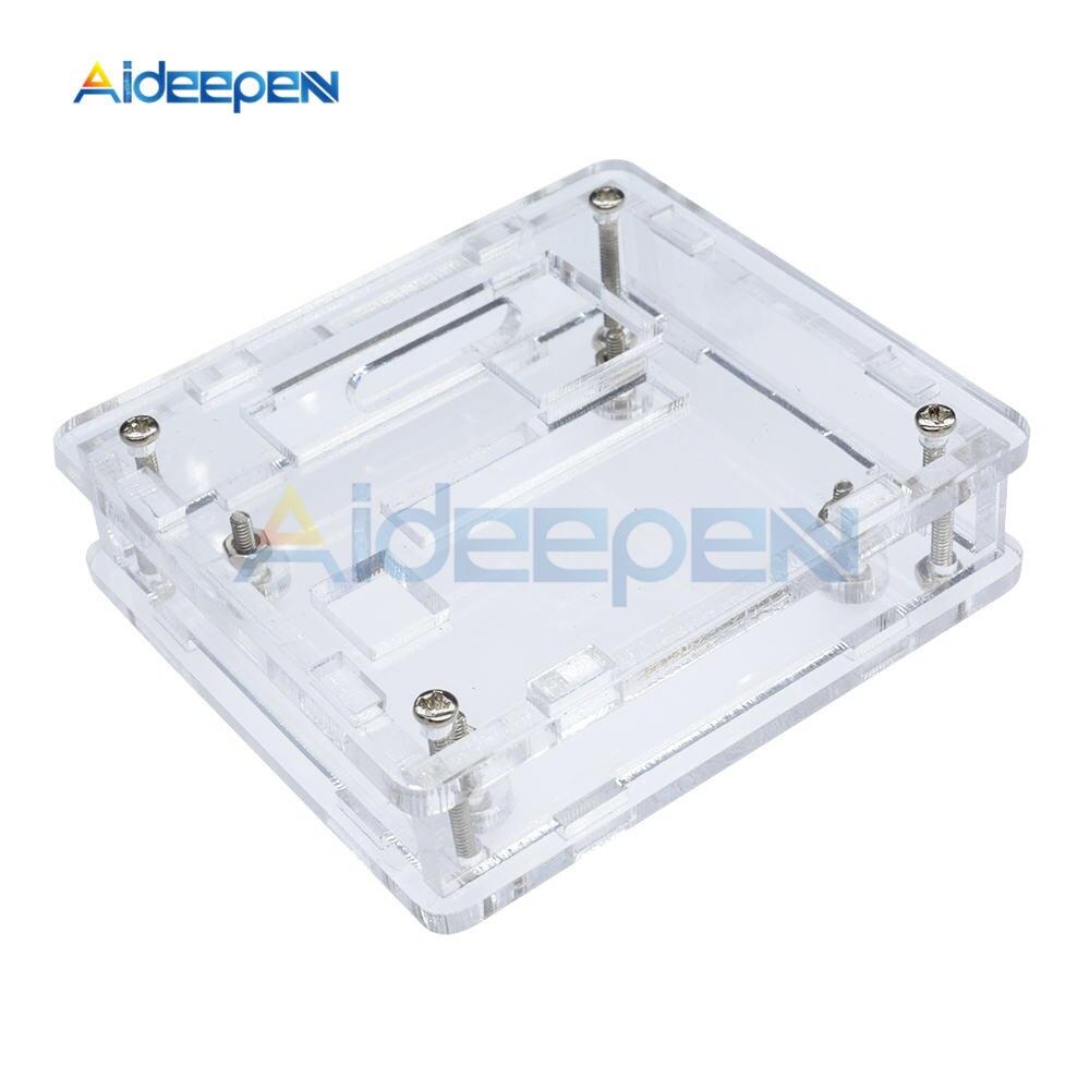 1 carcasa de acrílico transparente para controlador de temperatura Digital W1209