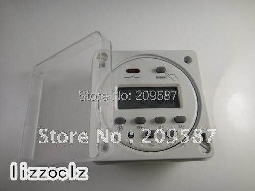 Interruptor de relé con temporizador Digital programable, a prueba de lluvia, CA 220V, con caja a prueba de intemperie