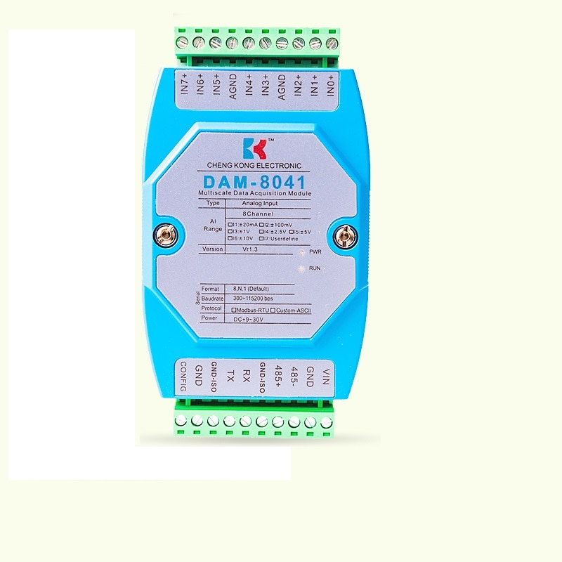 وحدة الحصول على الجهد عالية الدقة ، 0-10V/0-5V إلى RS232/RS485 ، MODBUS وحدة الإدخال