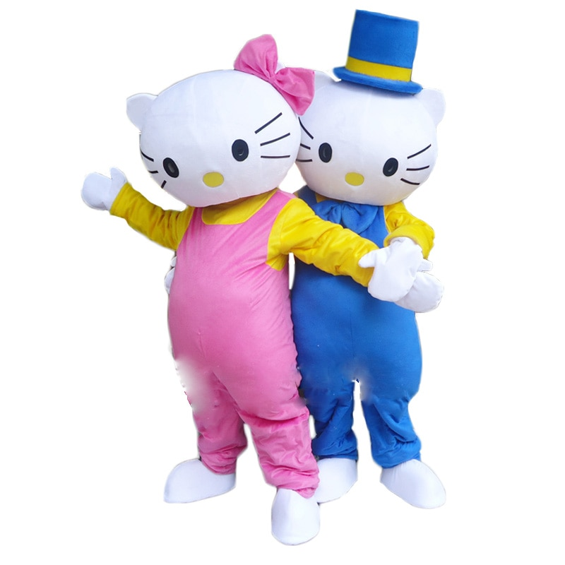 Новый маскарадный костюм Hello Kitty, взрослый размер, костюм кота, маскарадный костюм, бесплатная доставка