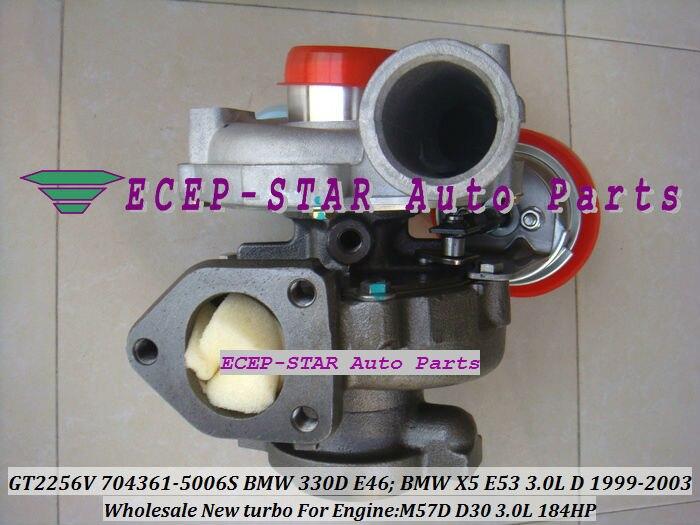 GT2256V 704361-5006 S 704361-0005, 704361-0004 Turbo 704361 turbocompresor para BMW 330D E46 X5 E53 1999-03 M57D M57 D30 3.0L 184HP