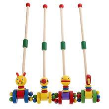 Dibujos Animados pato coagente niño Putting animales puzle Trolley juguete educativo de madera para niños puzle juguete para juego de mesa