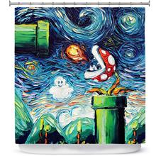 Rideaux de douche et de salle de bain   Designs par Aja Ann Van Gogh, Super Mario Bros