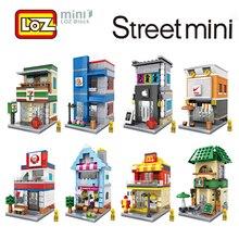 LOZ Mini ville rue vue scène Mini blocs de construction café magasin Architectures modèles & construction jouet cadeau pour les enfants