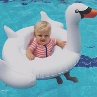 80cm baby swimming float seat float inflatable swan pool summer water fun pool toy kids swimming ring