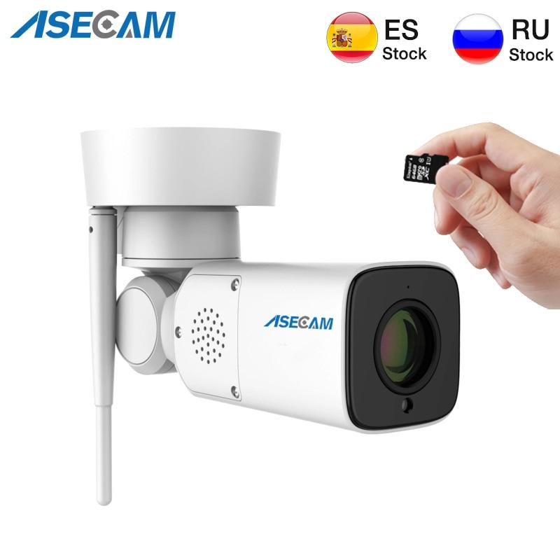Nouveau HD Wifi 1080P caméra IP IMX323 extérieur PTZ Surveillance sans fil Auto Zoom objectif Varifocal P2P CCTV sécurité Audio Microphone