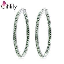 CiNily bleu & vert & jaune & rose CZ cristal pierre boucles doreilles en acier inoxydable été fête mignon bijoux cadeau pour fille femme