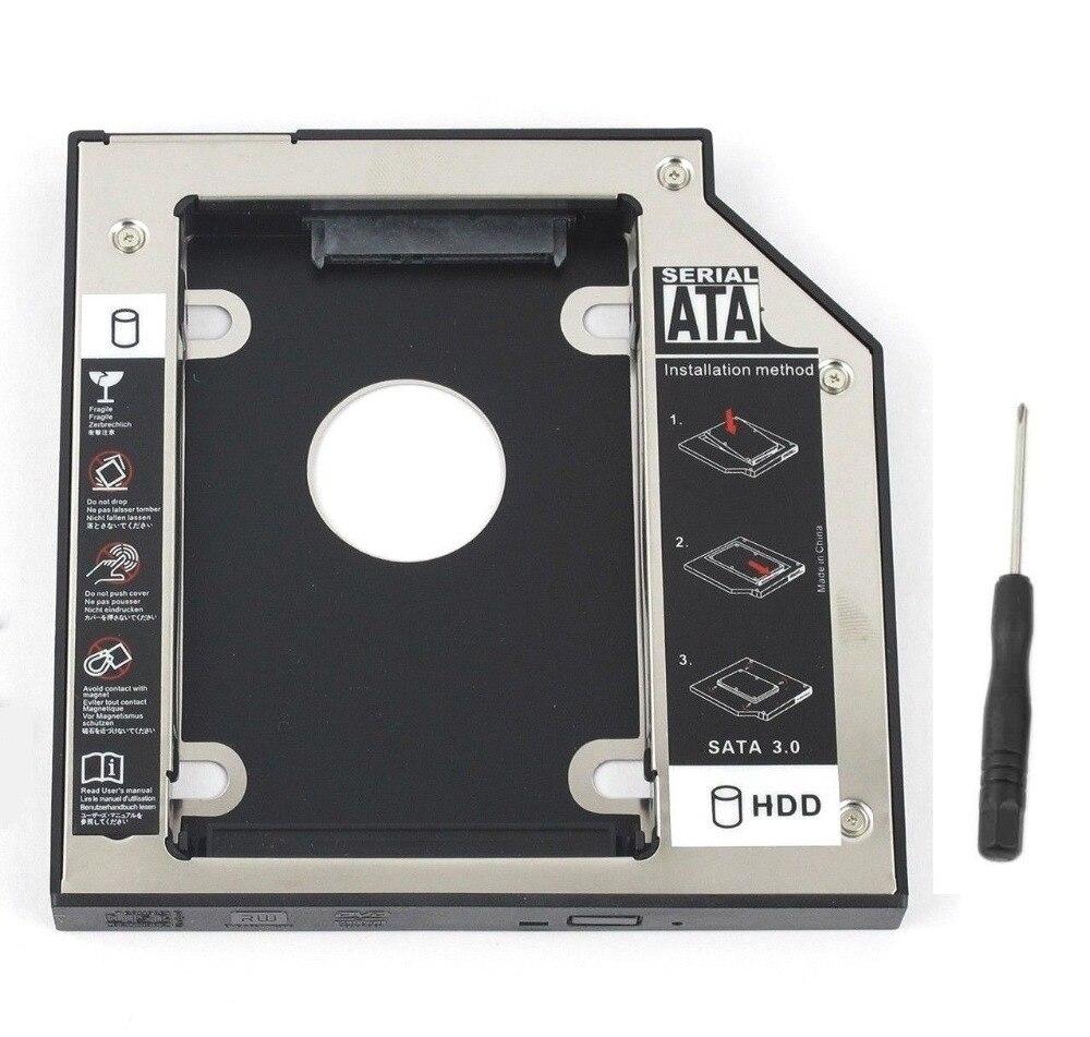 Nuevo disco duro Caddy WZSM SATA 2nd SSD HDD de 9,5mm para Dell Latitude E4300 E4310 E6530 UJ8B2 GU60N Inspiron 14z-1518