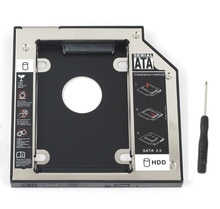 WZSM NEW 9.5mm SATA 2nd SSD HDD Caddy for Dell Latitude E4300 E4310 E6530 UJ8B2 GU60N Inspiron 14z-1518 Hard Disk Drive Caddy