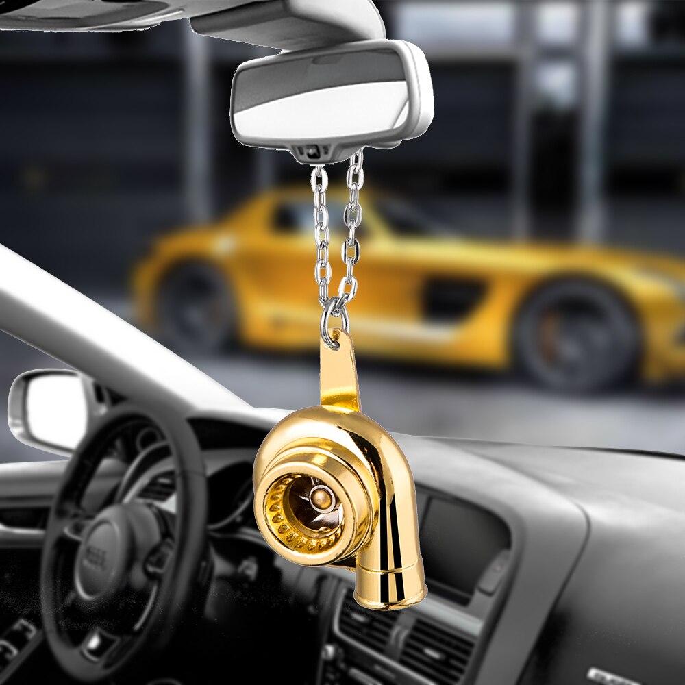 Turbo pendurado ornamentos pingente de carro auto interior hip-hop turbocompressor auto espelho retrovisor decoração balançar guarnição accessorie