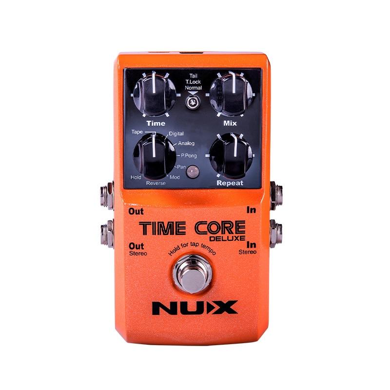 NUX Time Core Deluxe Multi Pedal de guitarra de efecto Delay 7 tipos de retardo con bloqueo Looper conexión estéreo accesorios de efectos de guitarra