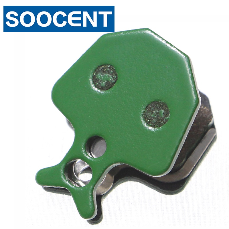 5 pares de pastillas de freno de disco de bicicleta semimetálicas verdes para fórmula ORO K18 ORO K24 PURO