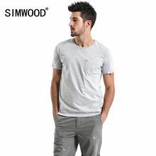 Мужская Винтажная Футболка SIMWOOD, летняя футболка в стиле хип-хоп из 100% хлопка с эффектом кислотной стирки, TD017108, 2020