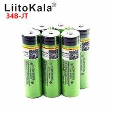 Hot LiitoKala 18650 3400mah 3000mah 100% Original 3.7V NCR18650B 18650 3400 Rechargeable Batteries for Flashlight for