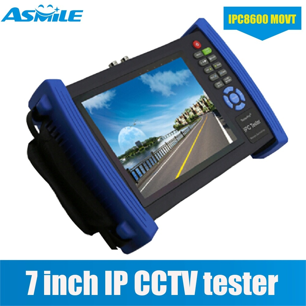 Probador de cámara IP CCTV con pantalla de 7 pulgadas probador analógico CVBS con POE/IP discovery IPC8600MOVT
