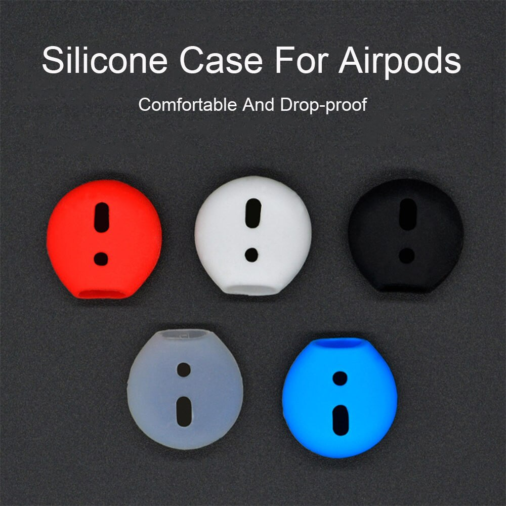 Fundas de silicona para auriculares iphone5 5S 6 6plus 6s 6splus 7 en el oído auriculares Airpod puntas de orejeras tapones para los oídos