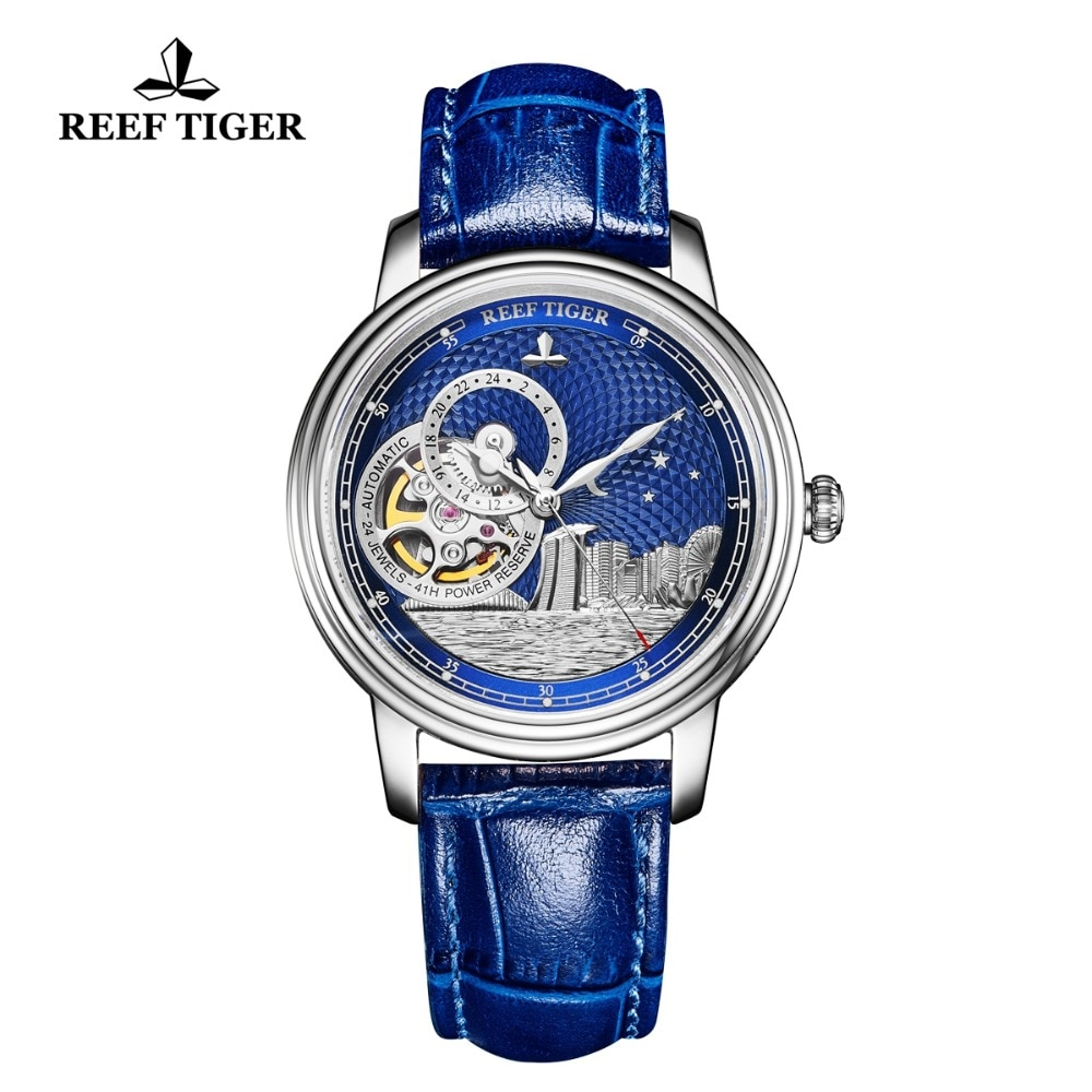 New Reef Tiger/RT Top Brand Designer Watch for Men Women Sapphire Crystal Automatic Watches Unisex Fashion Watch RGA1739 enlarge