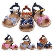 Sandales tissées avec nœud papillon pour bébés filles   Chaussures en toile, baskets simples, chaussures antidérapantes à semelle souple